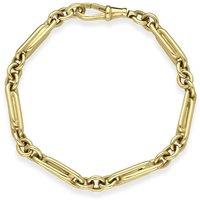 9ct Yellow Gold Twisted Links Handmade Bracelet