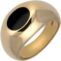 9ct Yellow Gold Whitby Jet Domed Oval Signet Ring