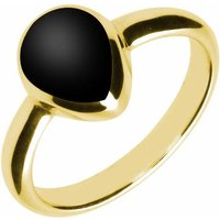 9ct Yellow Gold Whitby Jet Pear Shaped Ring