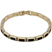 9ct Yellow Gold Whitby Jet Petite Oblong Bracelet