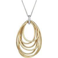 Al Coro Mezzaluna 18ct Rose Gold 0.20ct Diamond Multi Strand Necklace