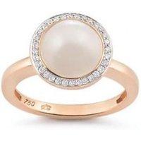 Al Coro Amici Rose Gold Moonstone Diamond Ring