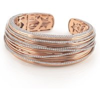 Al Coro Mezzaluna 18ct Rose Gold 7.34ct Diamond Bangle
