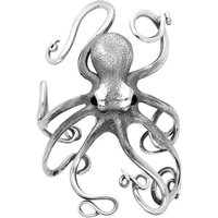 Sterling Silver Whitby Jet Octopus Bangle
