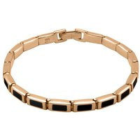 9ct Rose Gold Whitby Jet Petite Oblong Bracelet