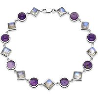 9ct White Gold Amethyst Moonstone Bracelet