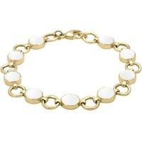 9ct Yellow Gold Bauxite Nine Stone Round Ring Bracelet