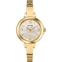 Bulova Watch Dress Gold IP Bangle