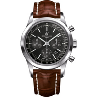 Breitling Watch Transocean Chronograph Croco Tang Type