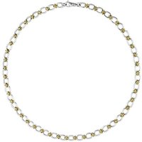 Sterling Silver 18ct Yellow Gold Handmade Chain Necklace