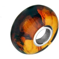 Sterling Silver Baltic Amber Bead Charm