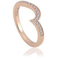 Clogau True Romance 9ct Rose Gold 0.17ct Diamond Wedding Ring