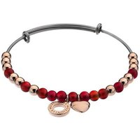 Emozioni Rose Gold Plated Red Bracelet