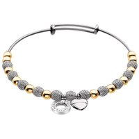 Emozioni Silver and Yellow Gold Plated Bracelet