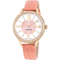 Faberge Watch Lady 18ct Rose Gold White and Pink Dial
