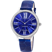 Faberge Watch Lady 18ct White Gold Blue Dial