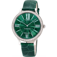 Faberge Watch Lady 18ct White Gold Green Dial