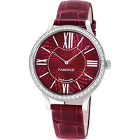 Faberge Watch Lady 18ct White Gold Red Dial