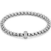 Fope FlexIt Eka 18ct White Gold 0.37ct Diamond Bracelet