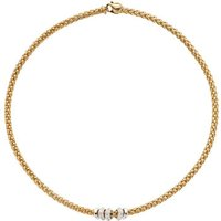 Fope Flexit Solo 18ct Yellow Gold 0.50ct Diamond Necklace