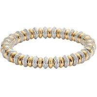 Fope Flexit Solo 18ct Yellow White Gold 4.14ct Diamond Bracelet