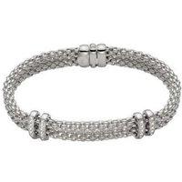 Fope Maori 18ct White Gold 0.18ct Diamond Bracelet