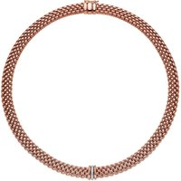 Fope Panorama 18ct Rose Gold 0.08ct Diamond Rondelle Necklace