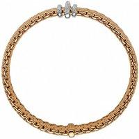 Fope Panorama 18ct Rose Gold 0.23ct Diamond Rondelle Bracelet