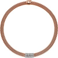 Fope Panorama 18ct Rose Gold 0.68ct Diamond Rondelle Necklace