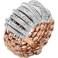 Fope Panorama 18ct Rose Gold 0.68ct Diamond White Gold Rondelle Ring