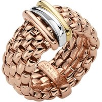 Fope Panorama 18ct Rose Gold Mixed Rondelle Ring