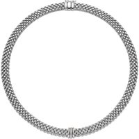 Fope Panorama 18ct White Gold 0.08ct Diamond Rondelle Necklace