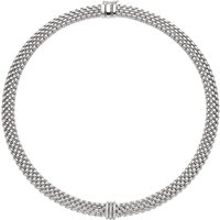 Fope Panorama 18ct White Gold 0.23ct Diamond Rondelle Necklace