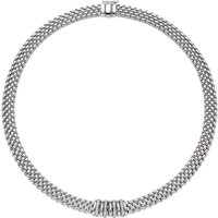 Fope Panorama 18ct White Gold 0.30ct Diamond Rondelle Necklace