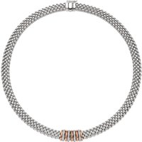 Fope Panorama 18ct White Gold 0.30ct Diamond Rose Gold Rondelle Necklace