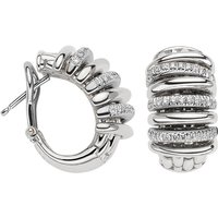 Fope Panorama 18ct White Gold 0.46ct Diamond Hoop Earrings