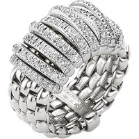 Fope Panorama 18ct White Gold 0.68ct Diamond Rondelle Ring