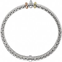 Fope Panorama 18ct White Gold Mixed Rondelle Bracelet