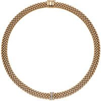 Fope Panorama 18ct Yellow Gold 0.08ct Diamond Rondelle Necklace