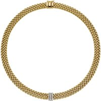 Fope Panorama 18ct Yellow Gold 0.23ct Diamond Rondelle Necklace