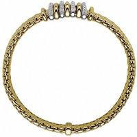 Fope Panorama 18ct Yellow Gold 0.30ct Diamond Mixed Rondelle Bracelet