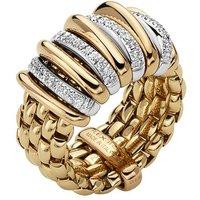 Fope Panorama 18ct Yellow Gold 0.30ct Diamond Rondelle Ring