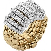 Fope Panorama 18ct Yellow Gold 0.68ct Diamond White Gold Rondelle Ring