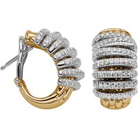 Fope Panorama 18ct Yellow Gold 1.06ct Diamond Hoop Earrings