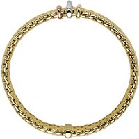Fope Panorama 18ct Yellow Gold Mixed Rondelle Bracelet