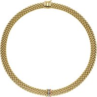 Fope Panorama 18ct Yellow Gold Mixed Rondelle Necklace