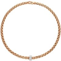 Fope Eka 18ct Rose Gold 0.63ct Diamond Necklace