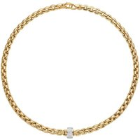 Fope Eka 18ct Yellow Gold 0.63ct Diamond Necklace