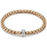 Fope FlexIt Eka 18ct Rose Gold 0.15ct Diamond Bracelet