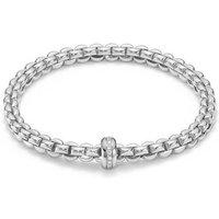 Fope FlexIt Eka 18ct White Gold 0.15ct Diamond Bracelet